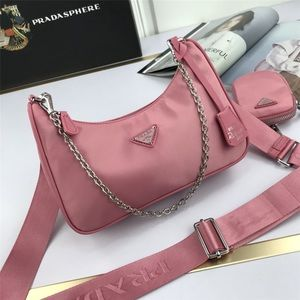 Prada canvas hobo pink